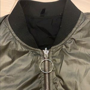 Urban Outfitters Jackets & Coats - Urban outfitters - grey cropped bomber jacket